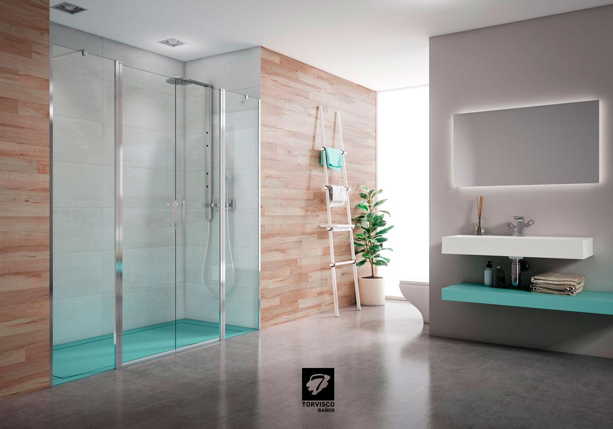 Torvisco ba os muebles platos de ducha mamparas y for Complementos para banos