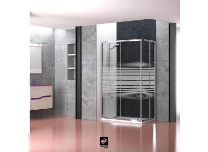 MAMPARA ENTRADA VERTICE NIZA | DECORADO | Mampara | Serie NIZA | Mamparas ducha | Catálogo BATHGLASS | Torvisco Group